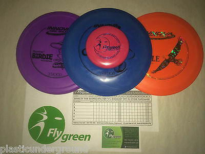 NEW FRISBEE DISC GOLF INNOVA BUILD YOUR OWN 3 PACK SET DRIVER PUTTER MID RANGE](Frisbee Golf Set)