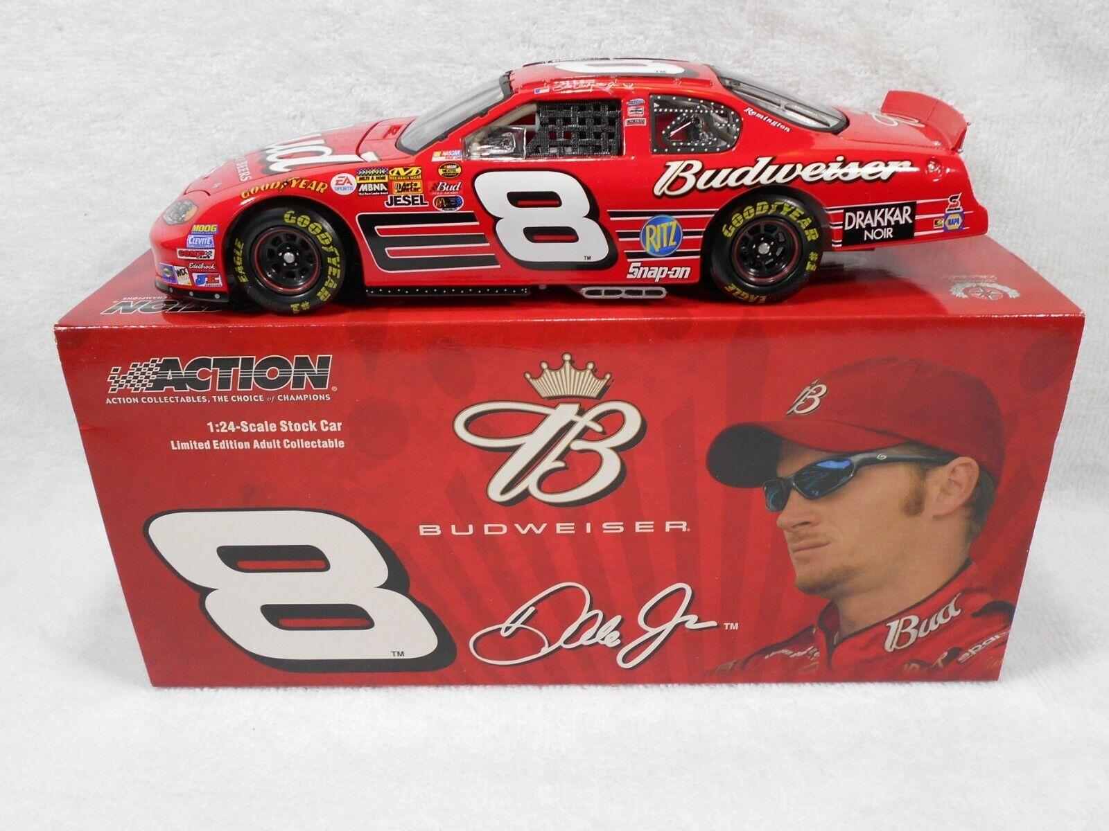 DALE EARNHARDT JR 8 BUDWEISER 1/24 ACTION 2004 NASCAR DIECAST - $24.99