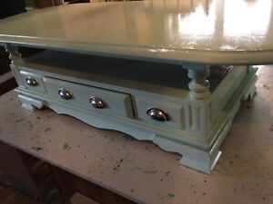 Mint green coffee table - available