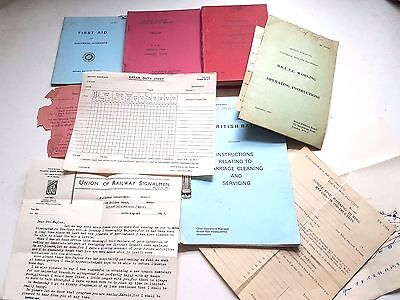 Joblot Vintage British Rail GWR GPO Official Rule Books Manuals Forms Etc