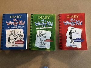 3 Diary of a Wimpy kid books