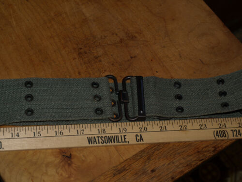 M-1936 web gear belt with adjuster circa 1970 43 waist w/ holes for holster etc