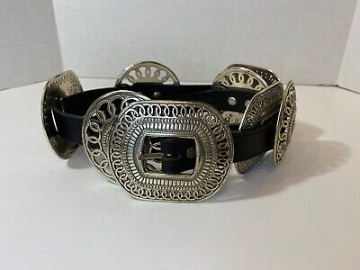 Walter Doran Western Boho Leather Concho Belt Lady Nadim USA  Womens Size M
