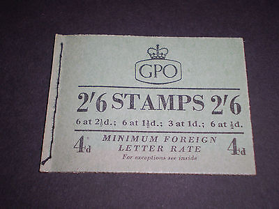 "GREAT BRITAIN ""JANUARY 1954 COMPOSITE"" BOOKLET {KING GEORGE VI & QE2} SG.F13 MNH"