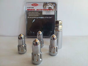 BULLET-WHEEL-LOCK-NUT-SET-1-2-SUIT-FORD-UPTO-2002-4-NUTS-KEY