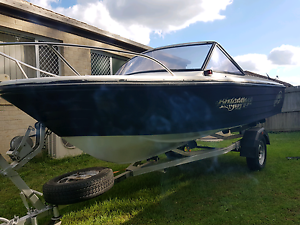 15 foot boat and trailer Browns Plains Logan Area Preview