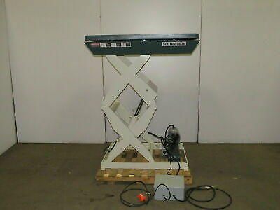 Southworth 3000lb Electric Scissor Lift Table 14 12-63 460v 3ph Rotating Top