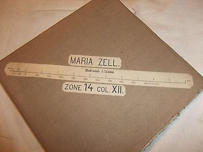 alte historische Landkarte Karte Maria Zell Zone 14 Col. XII Österreich Leinen