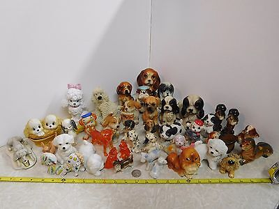 40 CUTE! Ceramic Dog Dogs Puppy Puppies Figurines lot of 40!