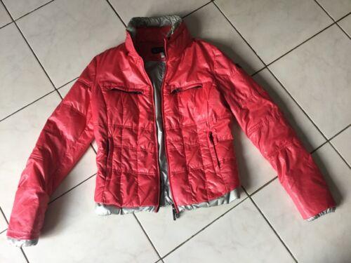 Doudoune manteau armani jeans taille 36/38 rose bon état