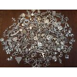 50 PiEcE LoT ~ MiXeD ThEMe STyLeS SiLvER ChArMs PeNdAnTs NeW JeWeLRy FiNdiNgS