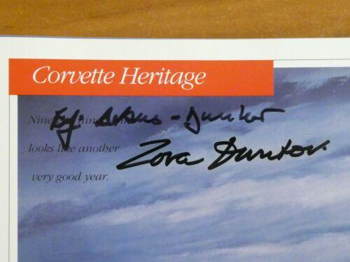 Zora Duntov Corvette Engineer Signed 1991 Corvette Booklet