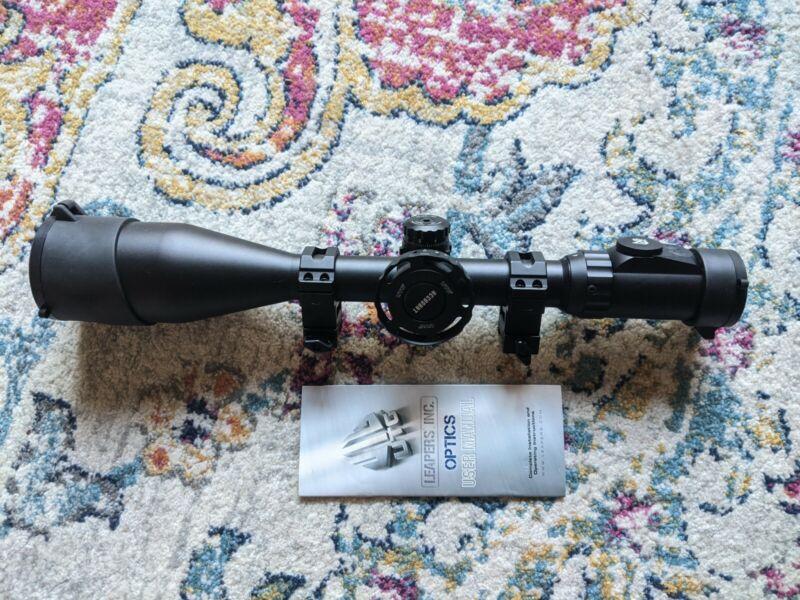 UTG Leapers 4-16X56 30mm Scope, IE Mil-dot Reticle w/ rings, wheel