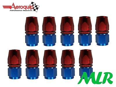 AEROQUIP AN-8 JIC STRAIGHT OIL COOLER REMOTE FILTER PIPE UNION FBM1013 SET OF 10