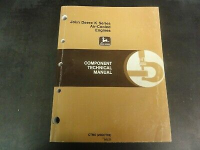 John Deere K Series Air-cooled Engines Component Technical Manual  Ctm5