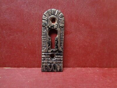 ANTIQUE LARGE CAST IRON KEYHOLE COVERS MORE AVAILABLE #1