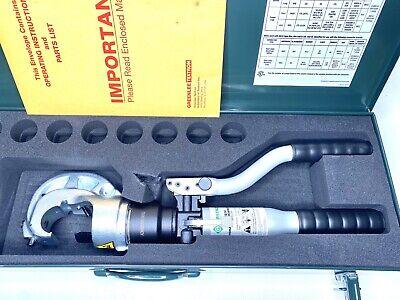 Greenlee Hk1230 Manual Hydraulic Crimper 12 Ton U Type Crimp Die 30mm Opening