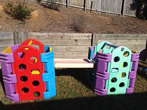 2 pieces of children's outdoor play gym cube equipment Brookwater Ipswich City Preview