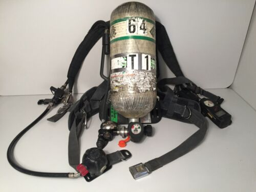 MSA Firehawk Harness and 4500psi SCBA Breathing Air Cylinder Tank