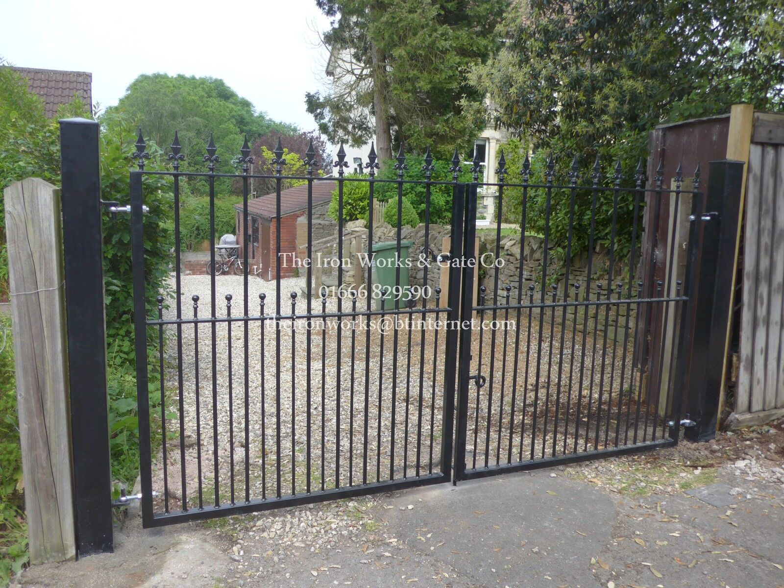 Wootton Double Driveway Wrought Iron Gates 6 Tall X 9ft