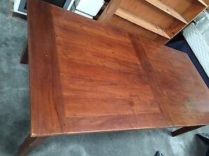 Huge dining table with 6 leather chairs Mayfield East Newcastle Area Preview
