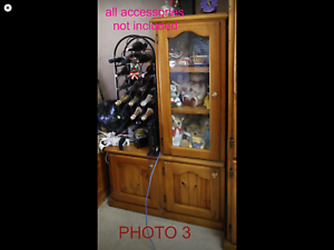 6 Solid Timber Cabinets 2 with glass doors, 4 with wood doors $20 each Doonside Blacktown Area Preview