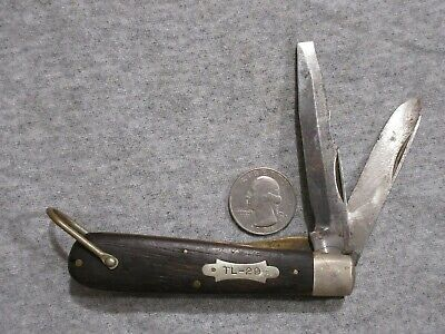 vintage Camillus TL-29 electrician's  folding blade knife lot T