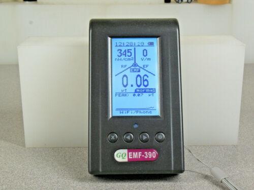 GQ EMF-390 3in1 multi-field Electromagnetic EMF Meter 5G RF Detector Data logger