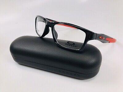 🔹NEW Oakley OX8090-0353 Polished Black Ink CROSSLINK Eyeglasses 53mm with Case