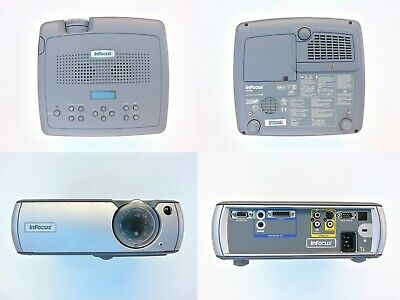 InFocus LP540 LCD Projector plus 84' Panoview pull down screen complete Bundle