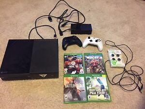 Xbox One with 4 games, 2 controllers for sale or trade for PS4