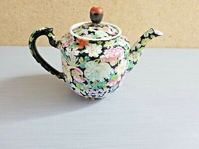 """5/"""" Marked 1962 Chinese famille rose Porcelain painting Peach blossom tea pot"""
