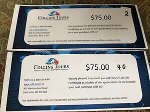 $150 inCollins Tours gift certificate for ONLY $65