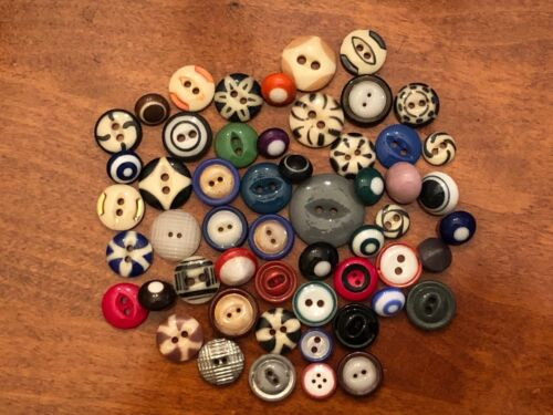 """WONDERFUL VARIETY OF CHINA BUTTONS, 7/16""""-15/16"""", Great Colors"""