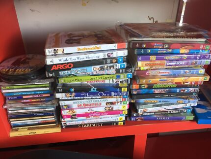 DVD movies and music CD's