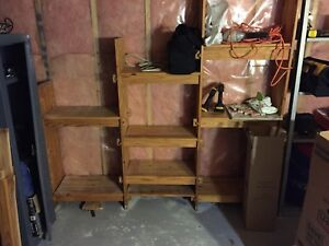 Hardwood shelves
