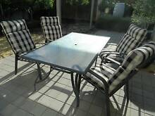 Outdoor Table with Four Chairs Meadow Springs Mandurah Area Preview