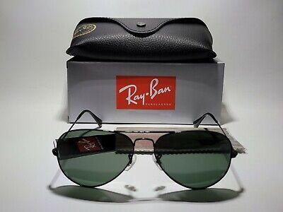 Ray-Ban RB3025 L2823 Aviator Classic Black, Green Lens 58-14 Sunglasses