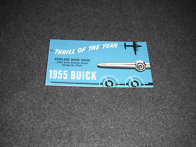1955 Roseland Buick Sales Chicago Illinois Postcard Business Card