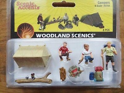 Figuren Spur 0 Camping Pfadfinder 8-teiliges Set 1:50 Neu OVP