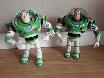 "Toy Story Bundle Talking Buzz Lightyear 2 Retro Toys Disney Pixar approx 12"""