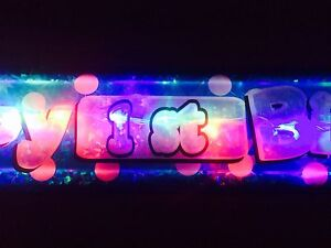 New Flashing LED Happy Birthday banner 1st-60th Party decorations light up