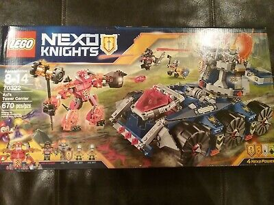 LEGO NEXO KNIGHTS SET #70322 AXL'S TOWER CARRIER, DAMAGED BOX