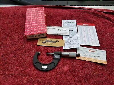 Starrett V216mxrl-50 25-50mm .001mm Metric Analog Outside Micrometer