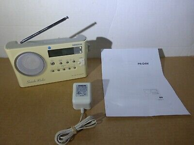 SANGEAN Sonido Radio PR-D4VW AM-FM-Weather Portable Digital Clock Radio