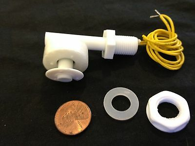 White Pp Liquid Water Level Sensor Right Angle Float Switch Nc No B21