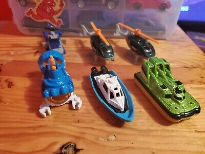 Set Of 6 Matchbox Air & Water Vehicles - Helicopters & Boats