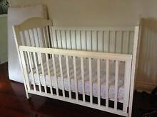 Baby COT White Wood, good condition free mattress also in GC Gold Coast Region Preview