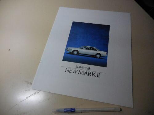 Toyota MARK II Japanese Brochure 1988/08 GX81 80 1G-GZE 1G-GTE 1G-GE 1G-FE 2L-T