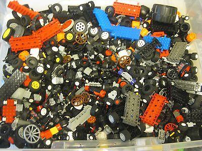 LEGO Bulk lot WHEELS 1/2 lb pound Tires Axles Car Vehicle Lots of Parts!